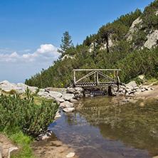 Пирин, Мост над Планинска Река близо до хижа Вихрен - Снимки от България, Курорти, Туристически Дестинации