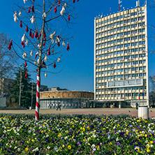 Димитровград, Сградата на Общината, Площад България, Област Хасково - Снимки от България, Курорти, Туристически Дестинации