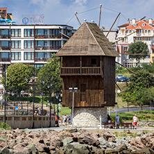 Несебър, Дървена Вятърна Мелница, Област Бургас - Снимки от България, Курорти, Туристически Дестинации