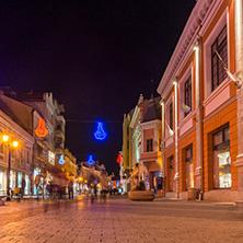 Пловдив, Главната Улица през нощта, Област Пловдив - Снимки от България, Курорти, Туристически Дестинации
